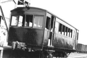 蓮田駅の自働客車キハ3の後部